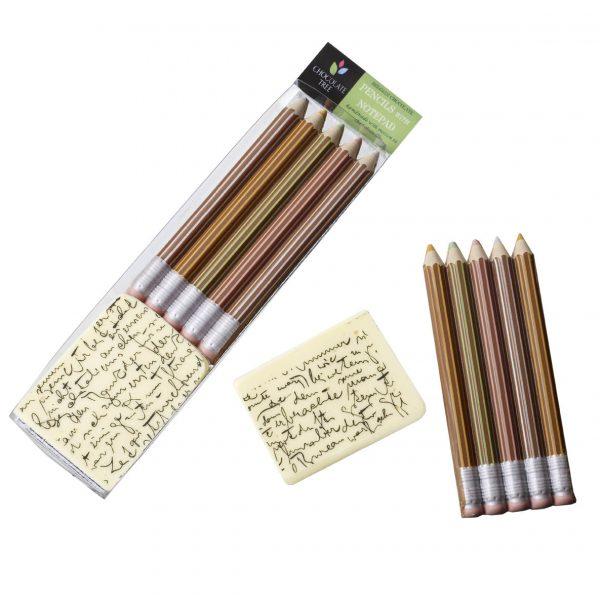 Chocolate Pencils & Notepad